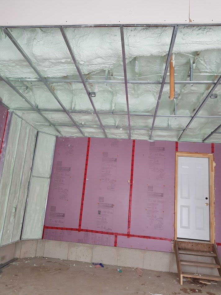 Garage spray foam
